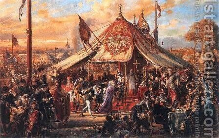 Poland at the Zenith of Power - Golden Liberty - 1573 Election by Jan Matejko - Reproduction Oil Painting
