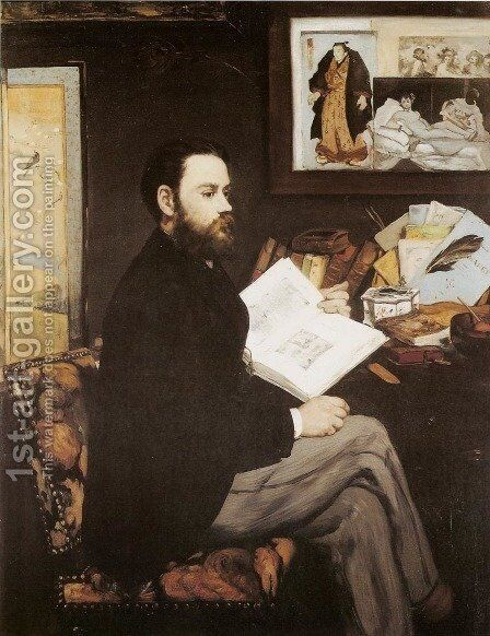 Emile Zola by Edouard Manet - Reproduction Oil Painting