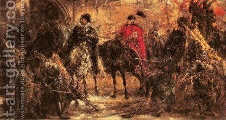 Jan Zamoyski at Byczyna by Jan Matejko - Reproduction Oil Painting