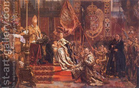 King John Casimir's Oath by Jan Matejko - Reproduction Oil Painting