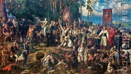 Kosciuszko at the Battle of Raclawice by Jan Matejko - Reproduction Oil Painting