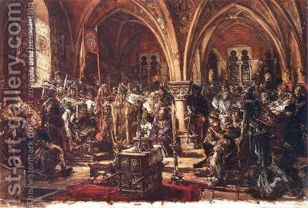 First Seym in Leczyca, AD 1182 by Jan Matejko - Reproduction Oil Painting
