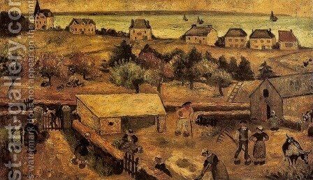 Farm in Keranquernat by Tadeusz Makowski - Reproduction Oil Painting