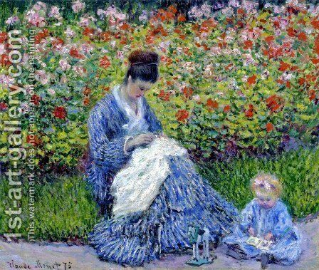 Madame Monet And Child Camille