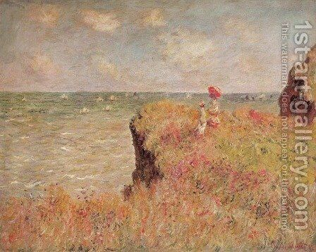 Cliff Walk by Claude Oscar Monet - Reproduction Oil Painting