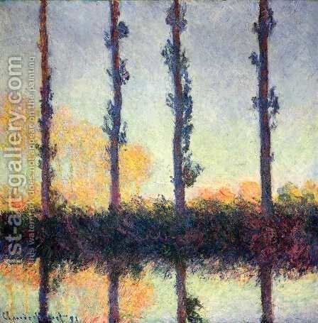 Four Poplars by Claude Oscar Monet - Reproduction Oil Painting