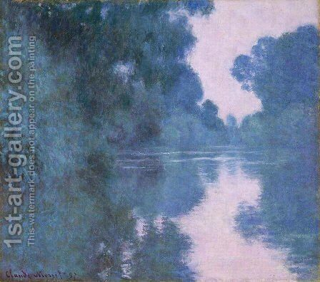 Branch of the Seine near Giverny by Claude Oscar Monet - Reproduction Oil Painting