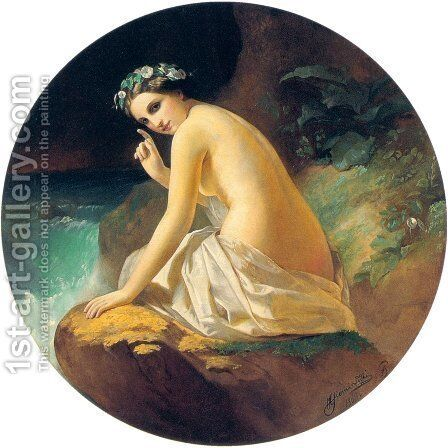 Nymph by Henryk Hector Siemiradzki - Reproduction Oil Painting