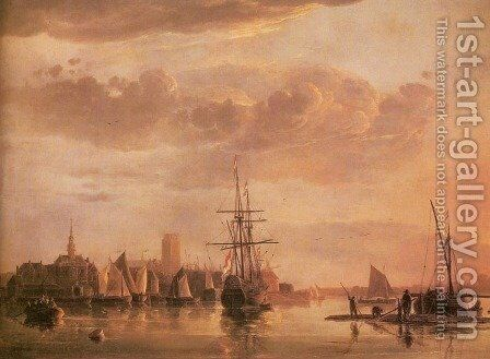 Dordrecht, Evening by Aelbert Cuyp - Reproduction Oil Painting