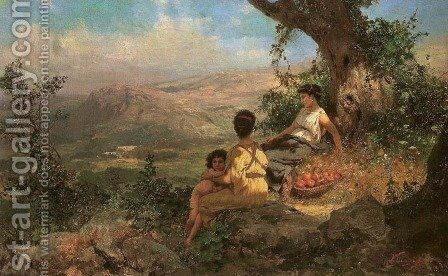 Idyll by Henryk Hector Siemiradzki - Reproduction Oil Painting
