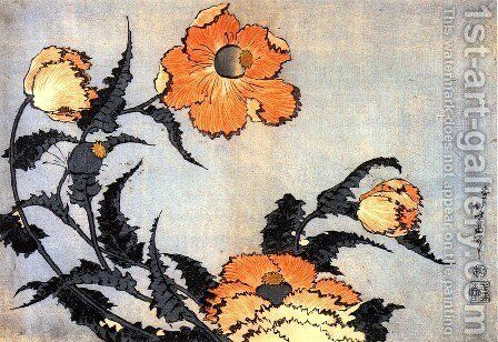 Poppies by Katsushika Hokusai - Reproduction Oil Painting