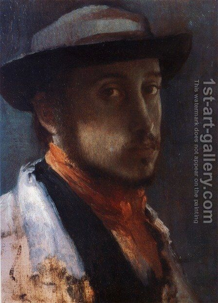 Self-Portrait in a Soft Hat by Edgar Degas - Reproduction Oil Painting