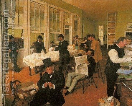 Portraits in an Office (New Orleans) by Edgar Degas - Reproduction Oil Painting