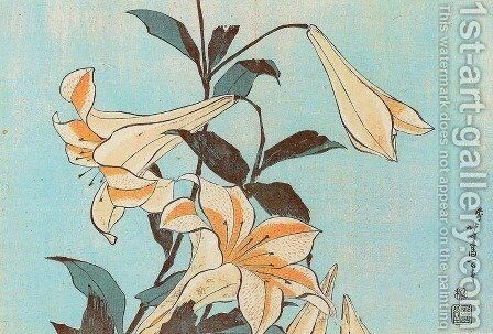 Lilies by Katsushika Hokusai - Reproduction Oil Painting