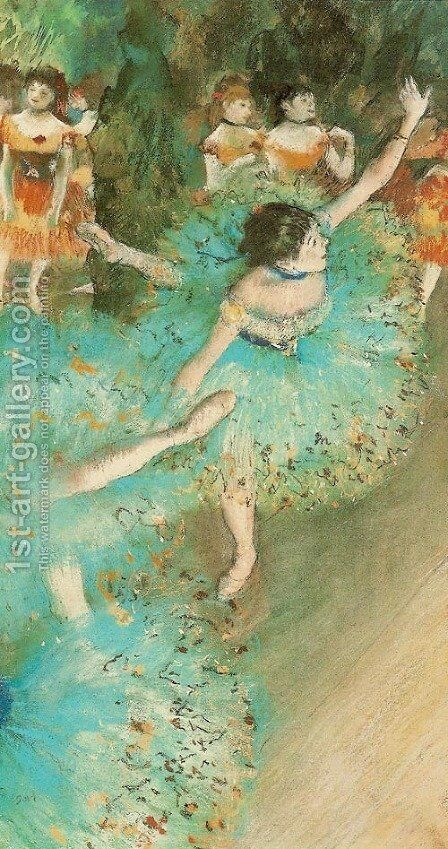 Green Dancer by Edgar Degas - Reproduction Oil Painting