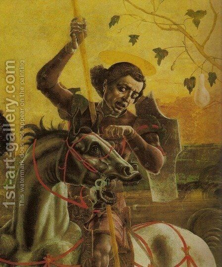 St. George and the Dragon (San Giorgio e il drago) by Cosme Tura - Reproduction Oil Painting