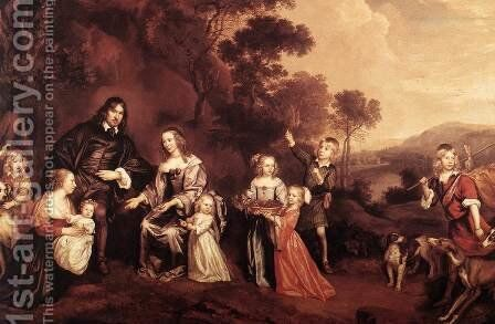 The Family of Willem Van Der Does by Jan Mijtens - Reproduction Oil Painting