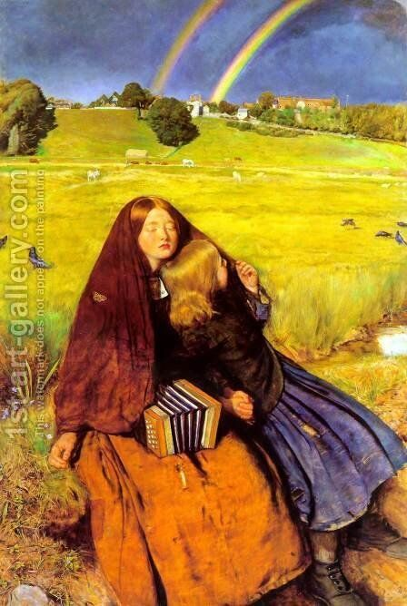 The Blind Girl  1854-56 by Sir John Everett Millais - Reproduction Oil Painting