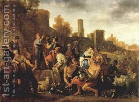 Moses Ordering the Slaughter of the Midianitic 1650 by Claes Cornelisz Moeyaert - Reproduction Oil Painting