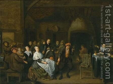 Drinking Peasants by Jan Miense Molenaer - Reproduction Oil Painting
