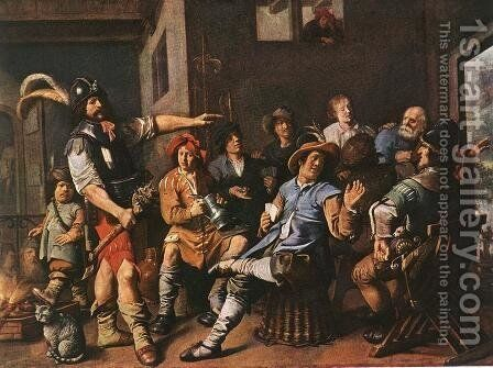 The Denying of Peter 1636 by Jan Miense Molenaer - Reproduction Oil Painting