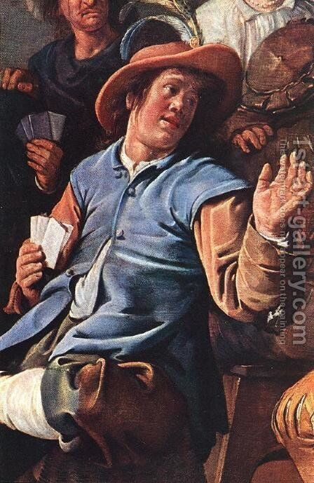 The Denying of Peter (detail) 1636 by Jan Miense Molenaer - Reproduction Oil Painting