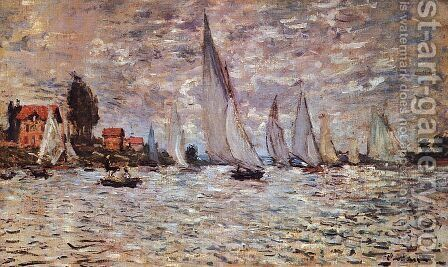 Regatta at Argenteuil  1874 by Claude Oscar Monet - Reproduction Oil Painting