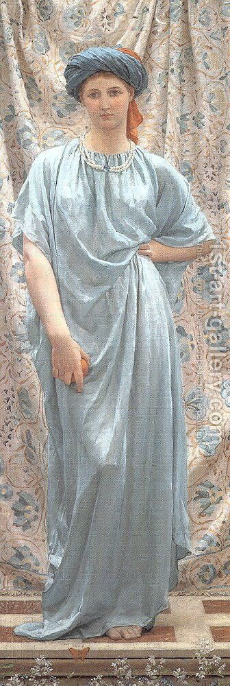 Sapphires 1877 by Albert Joseph Moore - Reproduction Oil Painting