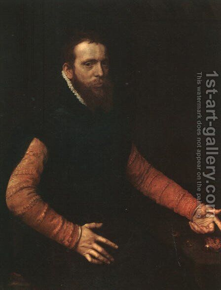 Portrait of a Goldsmith 1564 by Anthonis Mor Van Dashorst - Reproduction Oil Painting