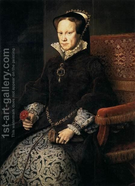 Queen Mary Tudor of England 1554 by Anthonis Mor Van Dashorst - Reproduction Oil Painting