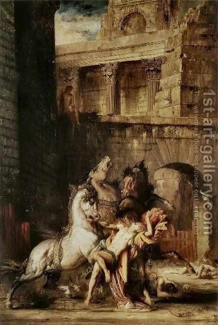 Diomedes Devoured by his Horses 1865 by Gustave Moreau - Reproduction Oil Painting