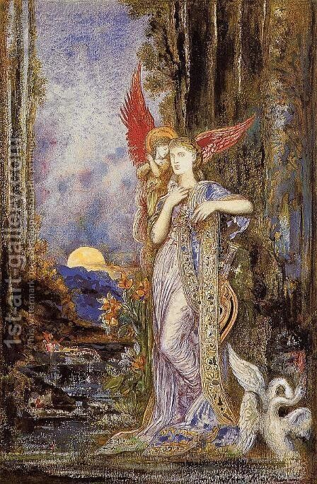 Inspiration 1893 by Gustave Moreau - Reproduction Oil Painting