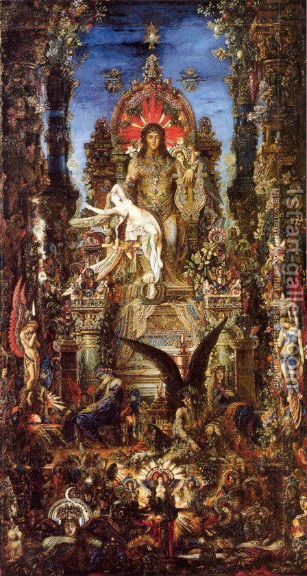 Jupiter and Semele 1889-95 by Gustave Moreau - Reproduction Oil Painting