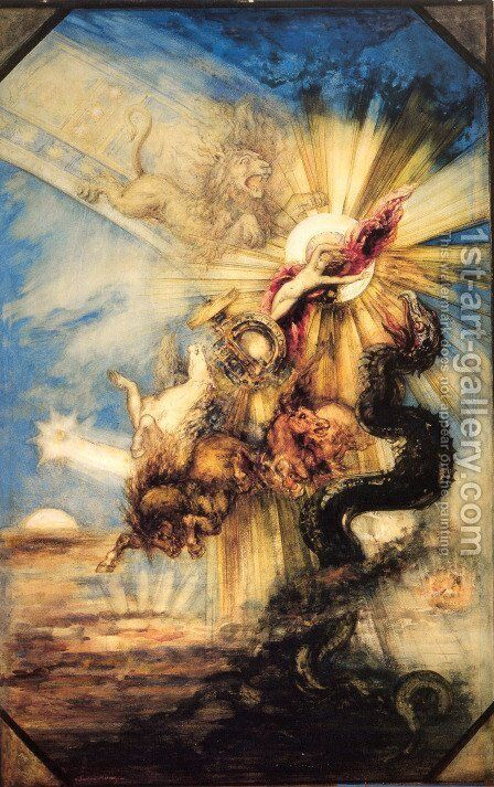 Phaeton 1878-79 by Gustave Moreau - Reproduction Oil Painting