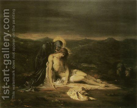 Pieta 1854 by Gustave Moreau - Reproduction Oil Painting