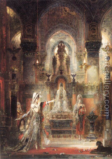 Salome Dancing before Herod 1874-76 by Gustave Moreau - Reproduction Oil Painting