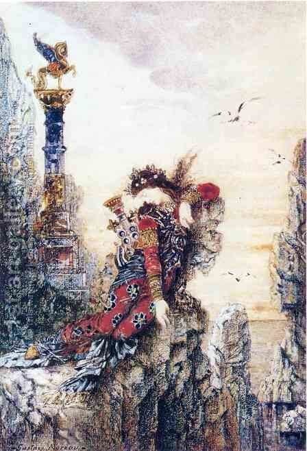 Sappho 1871-72 by Gustave Moreau - Reproduction Oil Painting