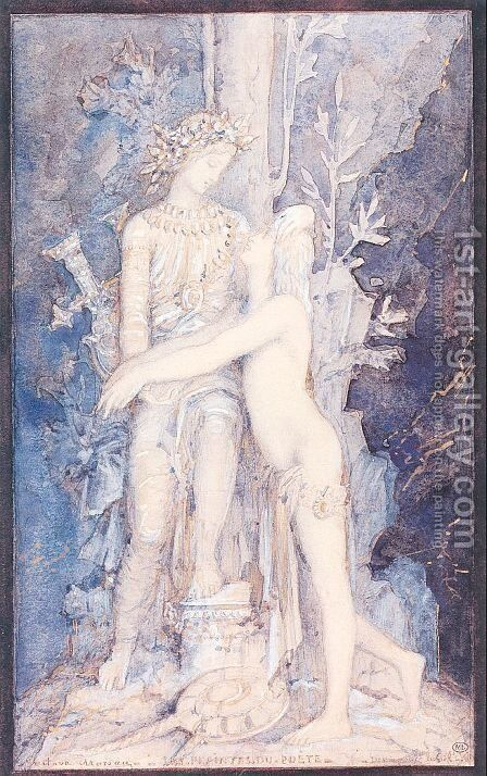 The Lamentations of the Poet 1882-83 by Gustave Moreau - Reproduction Oil Painting