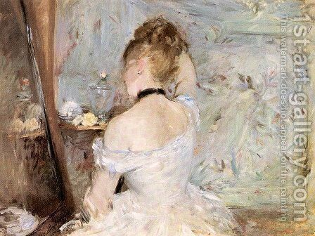Lady at her Toilet 1875 by Berthe Morisot - Reproduction Oil Painting