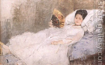 Mme. Hubard 1874 by Berthe Morisot - Reproduction Oil Painting