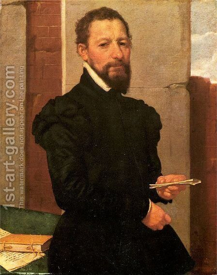 Portrait of a Man 1560 by Giovanni Battista Moroni - Reproduction Oil Painting