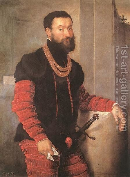 Portrait of a Soldier 1555-59 by Giovanni Battista Moroni - Reproduction Oil Painting