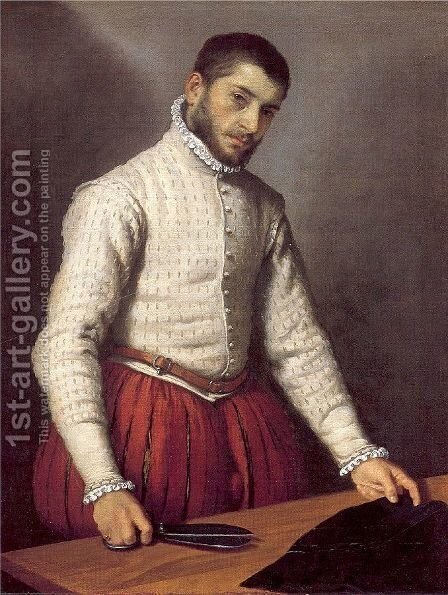 The Tailor c. 1570 by Giovanni Battista Moroni - Reproduction Oil Painting