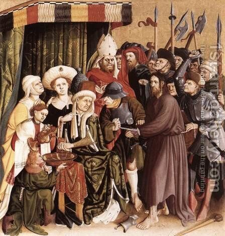 Christ before Pilate 1437 by Hans Multscher - Reproduction Oil Painting
