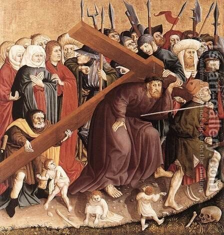 Christ Carrying the Cross 1437 by Hans Multscher - Reproduction Oil Painting