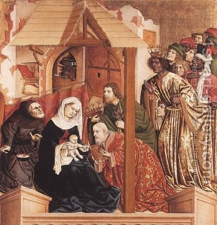 Th Adoration of the Magi 1437 by Hans Multscher - Reproduction Oil Painting