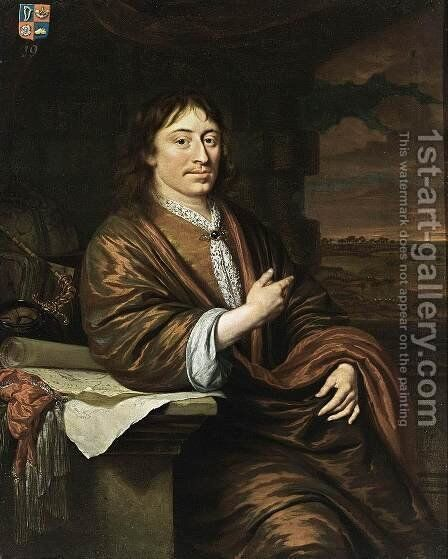 Portrait of Gerard Pietersz. Hulft 1677 by Michiel van Musscher - Reproduction Oil Painting