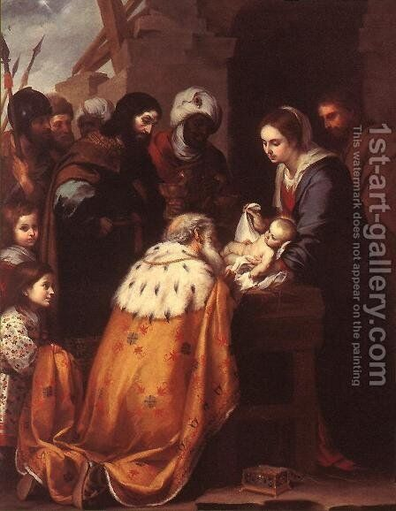 Adoration of the Magi 1655-60 by Bartolome Esteban Murillo - Reproduction Oil Painting