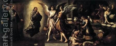 Angels' Kitchen 1646 by Bartolome Esteban Murillo - Reproduction Oil Painting