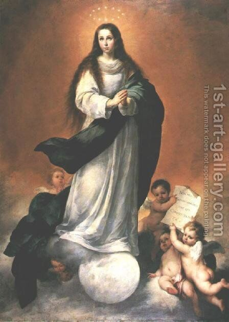 Immaculate Conception 1670 by Bartolome Esteban Murillo - Reproduction Oil Painting